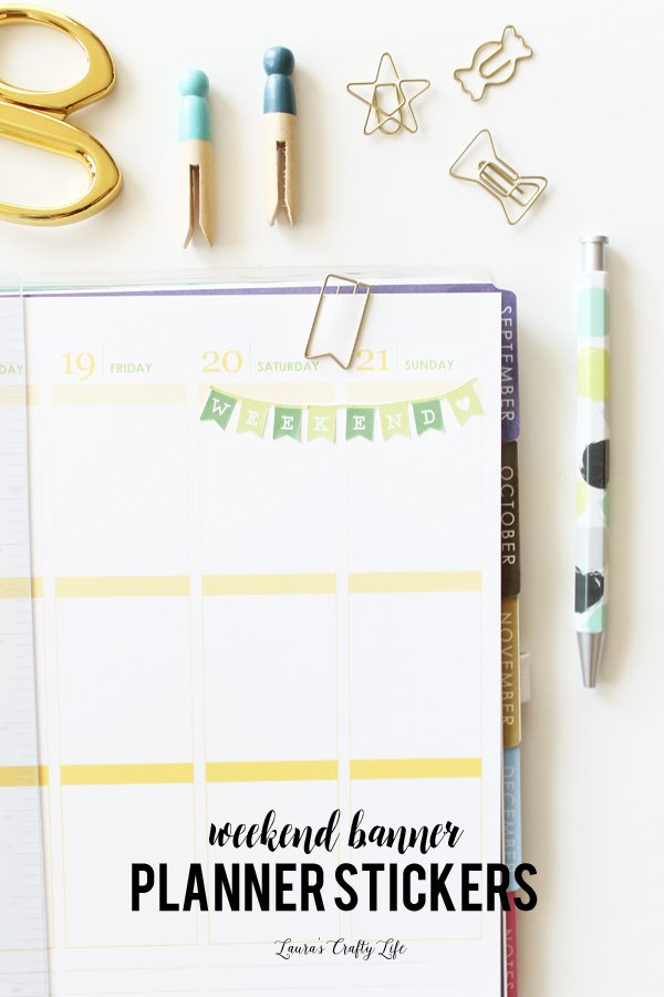How to create weekend banner planner stickers with Cricut Explore