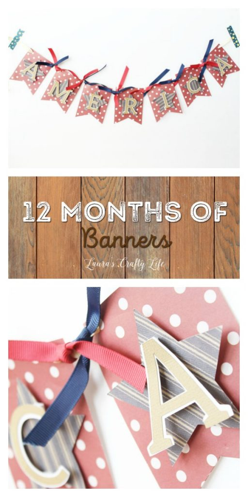 July America Banner with the We R Memory Keepers banner punch board - 12 months of banners