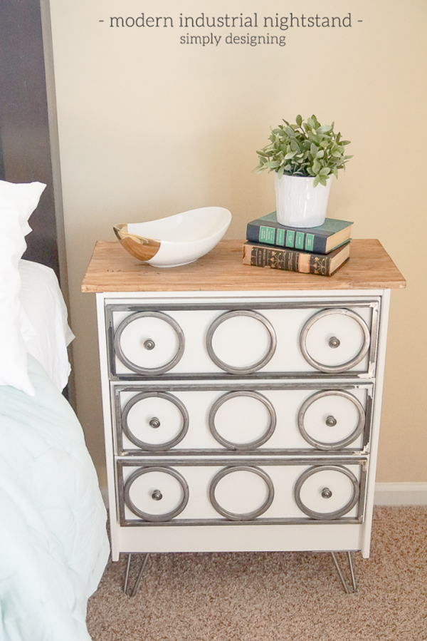 Modern-Industrial-Nightstand-such-a-fun-way-to-update-an-IKEA-Rast-dresser