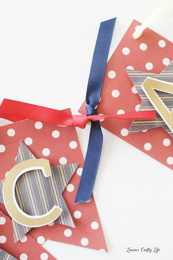 Tie ribbon around the other ribbon