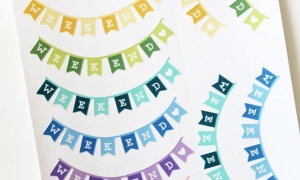 How to Create a Weekend Banner Sticker with Cricut Design Space