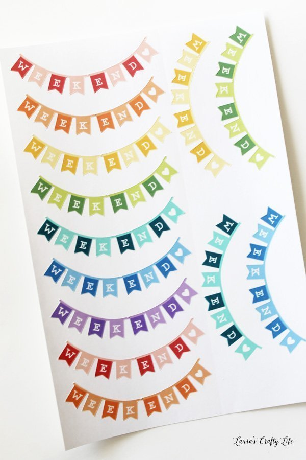 Weekend Banner Planner Stickers