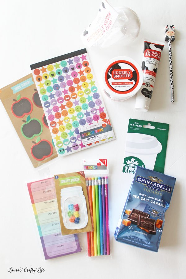 back to school teacher gift supplies