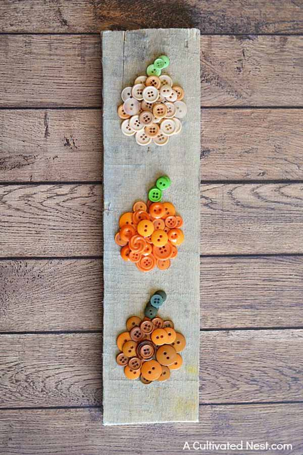 ombre-pumpkin-button-craft-finished