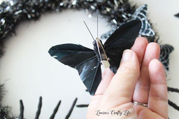 Clips on butterflies from Dollar Tree