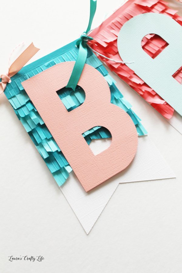 teal-and-pink-fringed-baby-banner