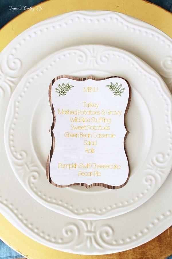 Create a Thanksgiving menu card with Cricut Explore Air 2