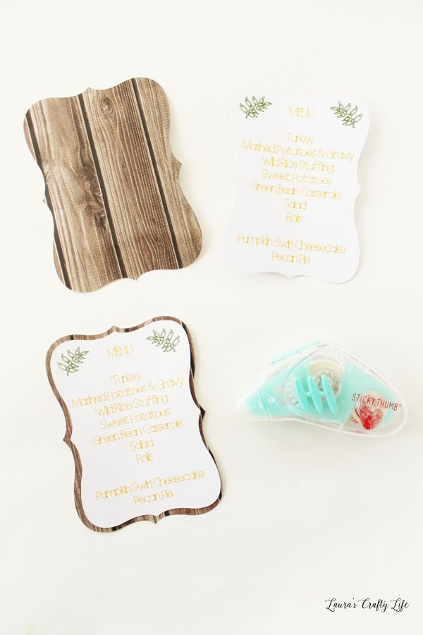 create-menu-cards-by-adhering-two-pieces-together