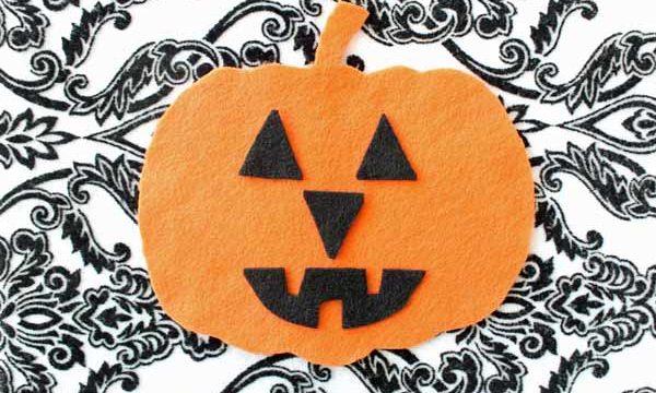 Felt Halloween Pumpkin Kid's Activity