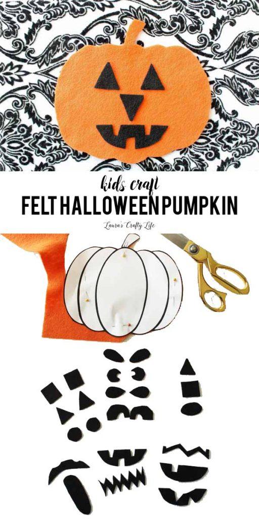 Felt Halloween Pumpkin - a great kid's craft idea for a busy bag or quiet activity