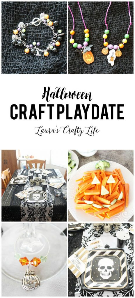 Halloween Craft Playdate with Oriental Trading - plan a fun playdate for moms and kids to do some crafts.