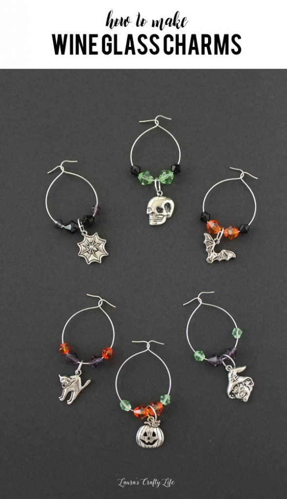 How to make wine glass charms - an easy and fun project to make for craft night
