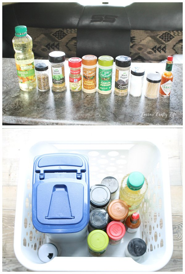 keep-spices-together-in-a-plastic-bin