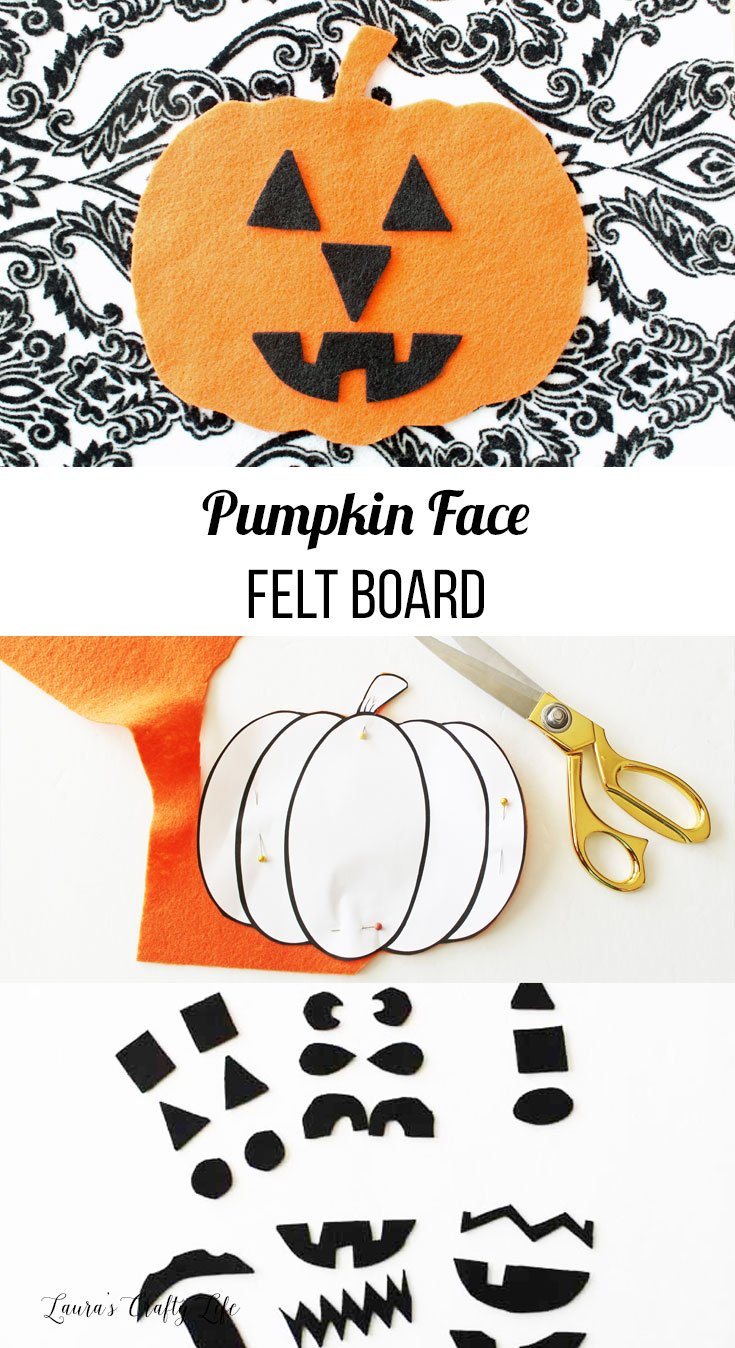 pumpkin face travel felt board