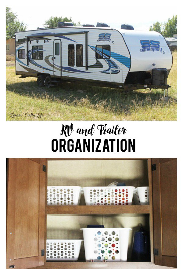 RV and Trailer Organization - how to organize and store things in a small space