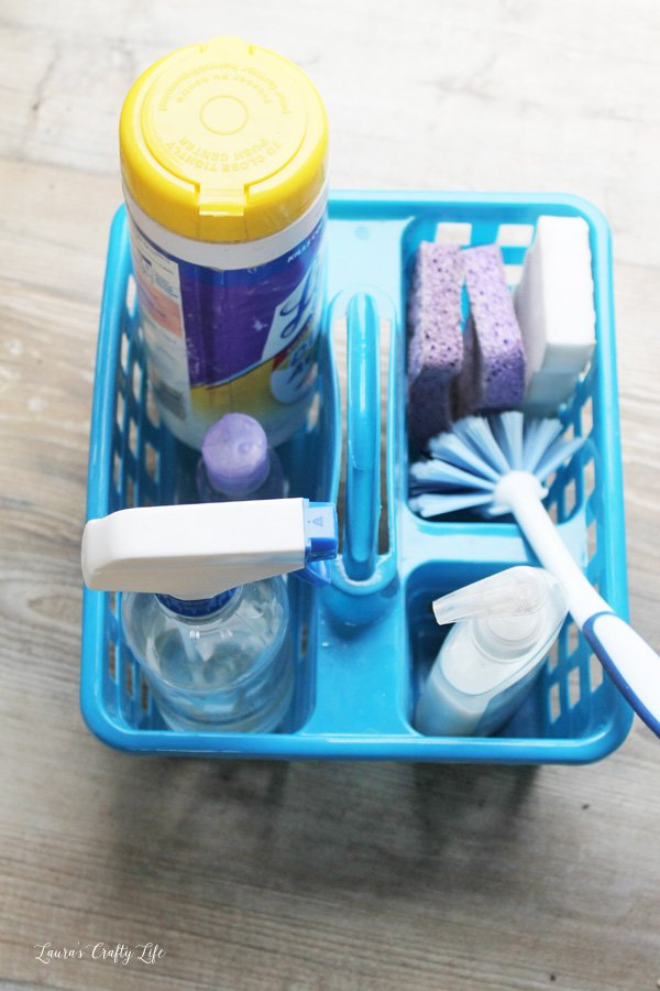 small-plastic-tote-with-cleaning-supplies