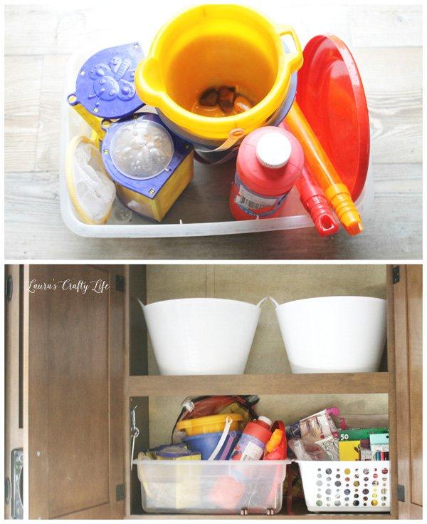 store-kids-toys-in-a-plastic-bin