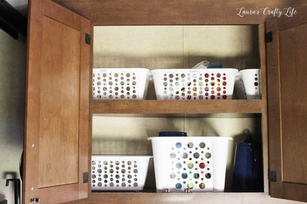 use-inexpensive-dollar-store-baskets-to-keep-like-items-together