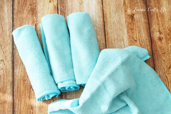 Use microfiber cloths to clean