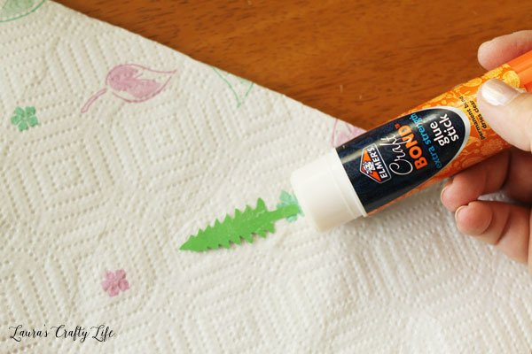 when-gluing-items-with-a-gluestick-use-a-paper-towel-underneath