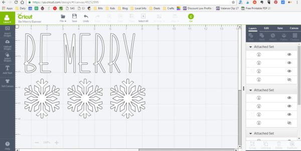 Be Merry Banner - Cricut Design Space File