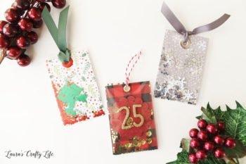 Christmas Shaker Tags