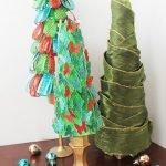 DIY styrofoam Christmas trees