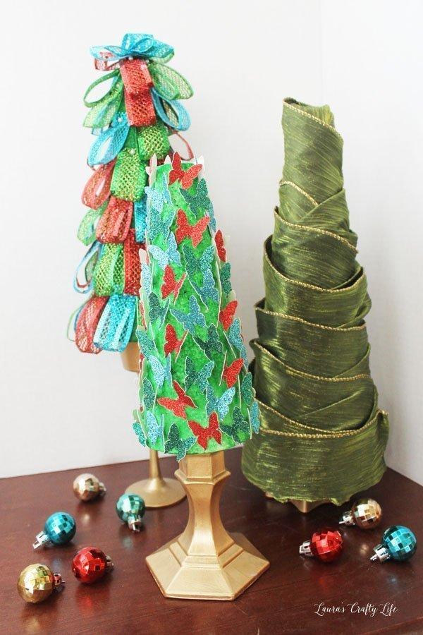 DIY styrofoam Christmas trees