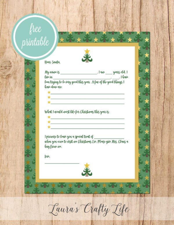 Letter to Santa Christmas Tree