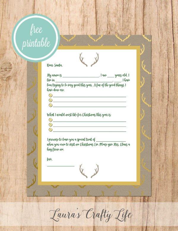 Letter to Santa - Deer Antler