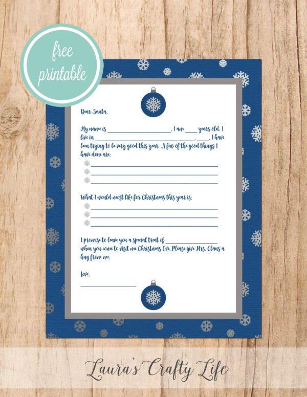 Letter to Santa - Snowflakes