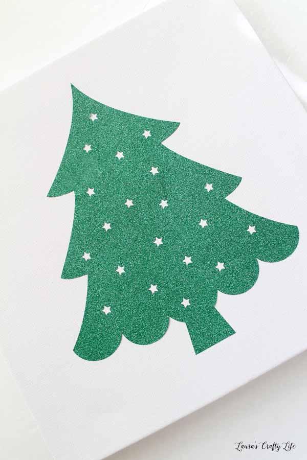 add-glitter-vinyl-tree-to-canvas