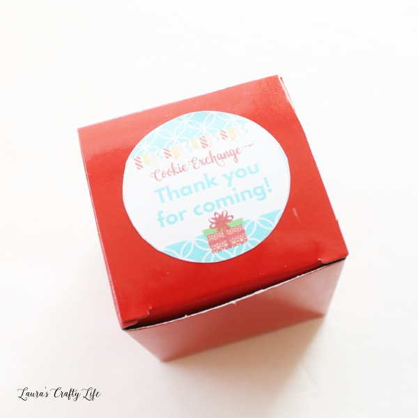 cookie exchange favor box