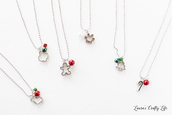 cookie cutter charm necklaces
