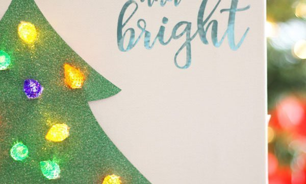 Lighted Christmas Tree Canvas