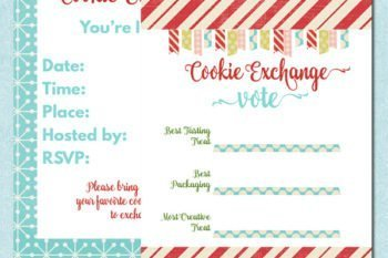 Mod & Merry Cookie Exchange Printables