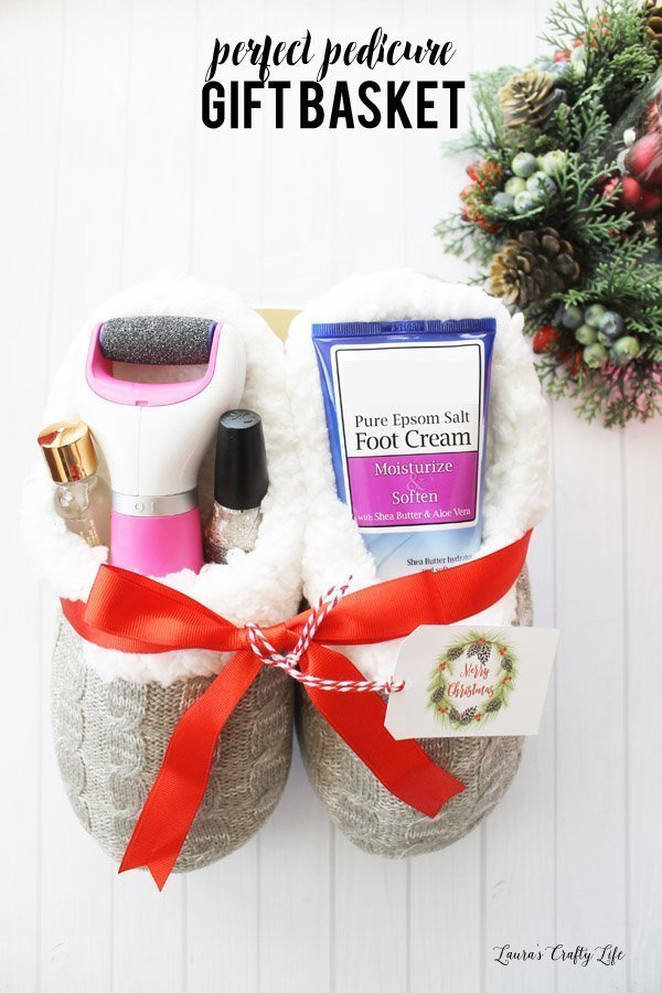 Create the pefect pedicure gift basket with Amope #AmopeforTheHoliday #ad