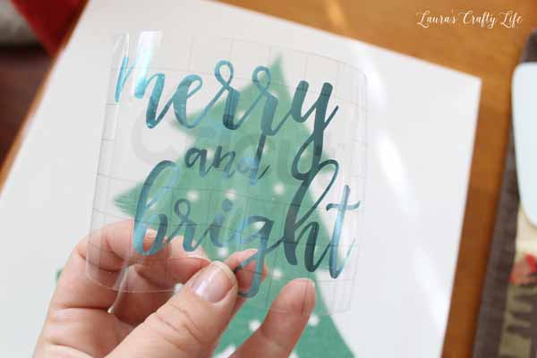 Clear transfer tape from Cricut