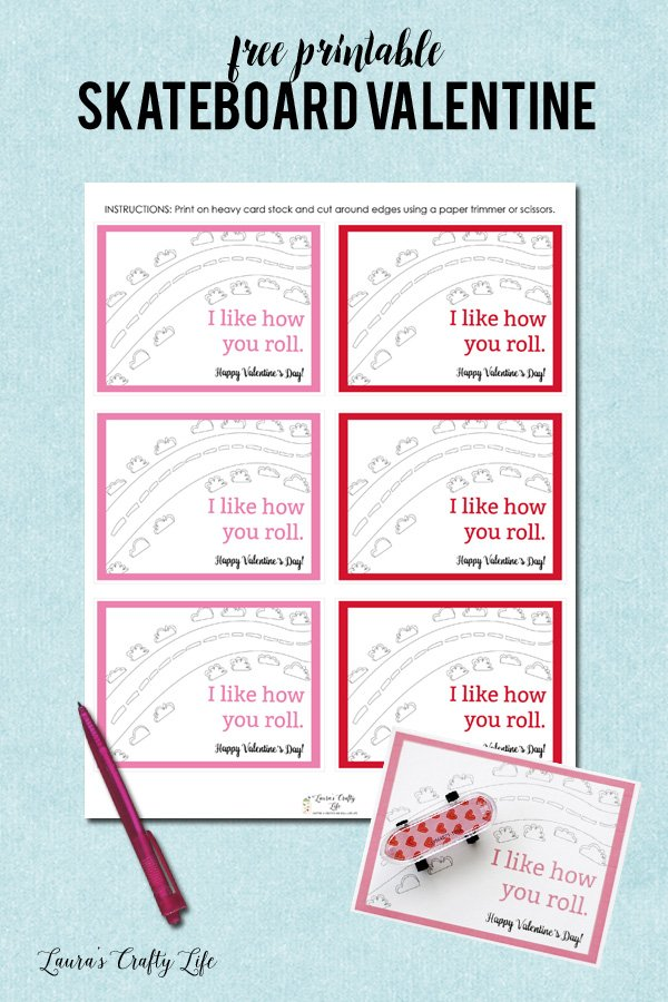 Skateboard Valentine\'s Day Cards - Laura\'s Crafty Life