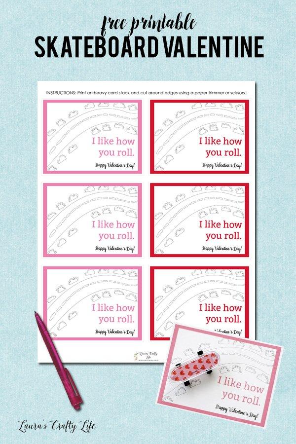 Skateboard Valentines Day Cards Lauras Crafty Life – Mini Valentine Cards