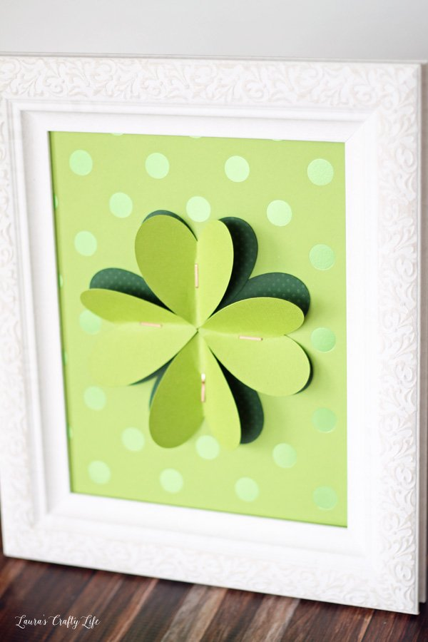 3D shamrock wall art