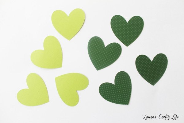 hearts cut out with Cricut