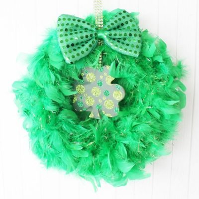 Dollar Tree St. Patrick's Day wreath