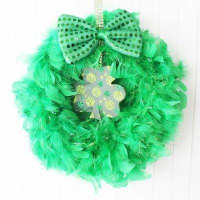 Dollar Tree St. Patrick's Day wreath