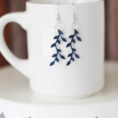 Faux Leather Earrings made with Cricut Explore