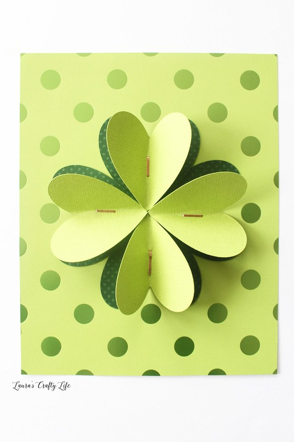 cardstock four leaf clover