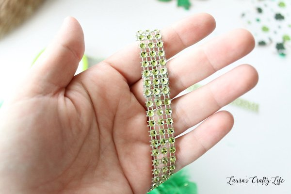 glued diamond wrap to create loop