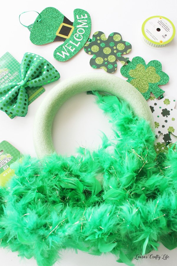 supplies St. Patrick's Day wreath