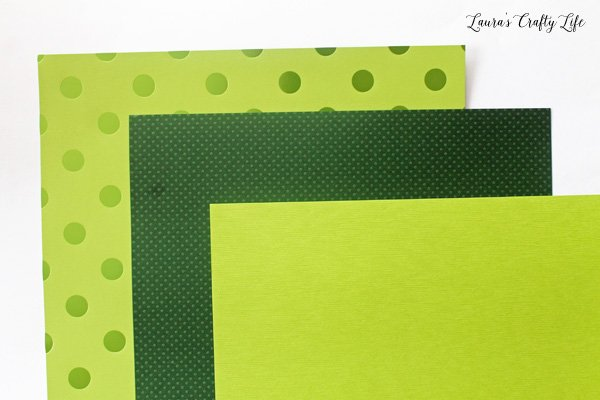 textured papers for shamrock wall art