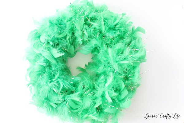 feather boas to cover wreath form